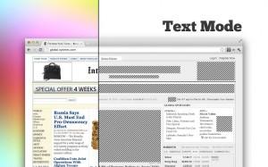TextMode, een plug-in voor Chrome